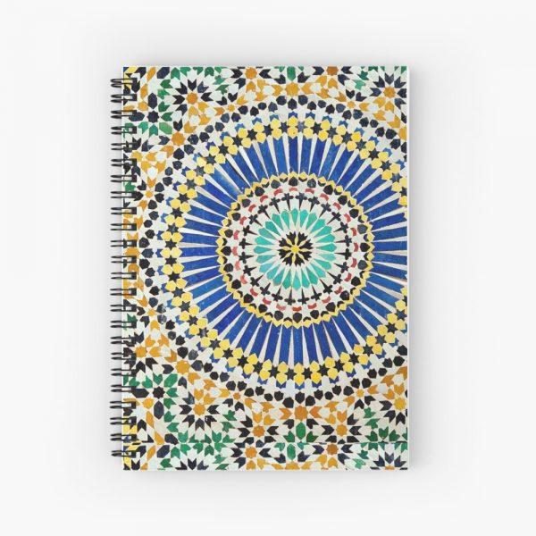 Moroccan Print Spiral Notebook